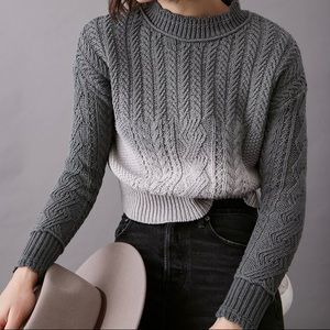 Anthropologie Marci Dip-Dyed Cable-Knit Sweater  .